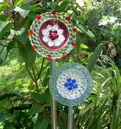 Glass Creations_Not Totems :: Plate Flowers by gardencraze image by sangaree_KS - Photobucket