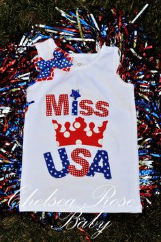 4th of July shirt for Baby and toddler girls by ChelseaRoseBaby, $20.00