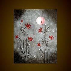 Lotus Love- Abstract Landscape/ Floral Art Print