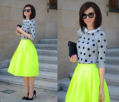 Mohito Sweater, Skirt, Zara Heels