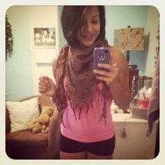 Scarf with workout clothes I think yes #fashion #fun #girly #pretty #exercise #fitness .