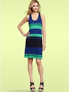 Striped tank dress, Gap