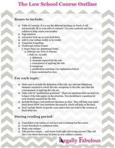 How to make a law school course outline (printable guide) More