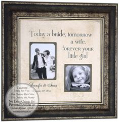 Wedding Gifts Parents Bride Groom MOM & DAD Sign Frame Father of The Bride Mother of The Bride Reception Shower ( 16 X 16 ) via Etsy #weddings #presents #gifts