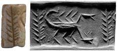 A Mesopotamian cylinder seal at the Morgan Library and Museum, showing a scorpion.