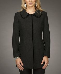 Take a look at this Black Jacket by Firmiana on #zulily today!