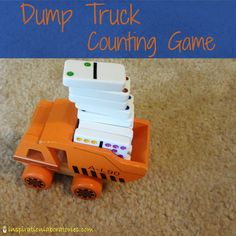 Dump Truck Counting Game - How many dominoes can the dump truck hold? Find out in this counting game and physics investigation!