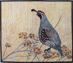 Lenore's Art World: New Small Wall Hanging:  Gambel's Quail by Lenore Crawford