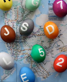 NY Subway Line Easter Eggs