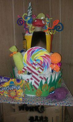 Willy Wonka diaper cake
