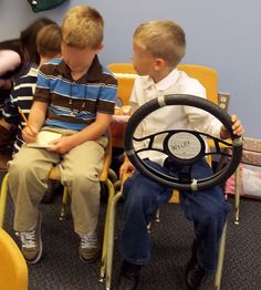 Brick by Brick: The Steering Wheel in the dramatic play center