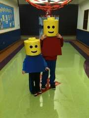 Step by step directions Lego Halloween costume