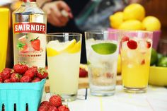 Let's all thank Grover Cleveland for inventing #LaborDay by throwing a party with three labor-free drinks this Labor Day. Just mix #Smirnoff Strawberry with lemonade or citrus soda or pineapple juice. #TotallyNotWorking