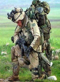 A Praying American Soldier