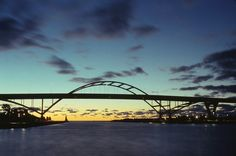 hoan bridge - dusk - downtown Milwaukee