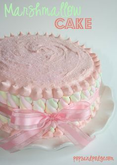 Pops and Podge: Marshmallow... Mother's Day... Baby Shower Cake or just fun cake