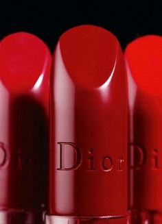 red Dior lipstick