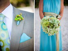 bright color for a beach wedding / Karen Lisa Photography