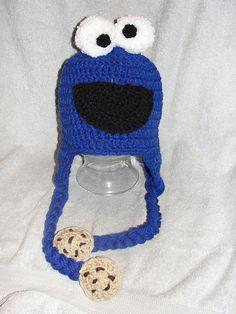 cookie monster tassel hat