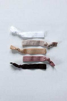 elastic hair ties -- basic brown palette / etsy