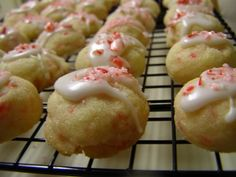 Candy Cane Snowballs...these cookies are awesome!