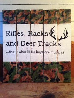 Pallet sign...without the camo
