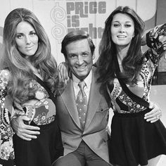 """The Price Is Right"" host Bob Barker poses with models Janice Pennington (left) and Anitra Ford (right) in 1972."