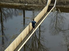 Sunken Pedestrian Bridge in the Netherlands Parts Moat Waters Like Moses!