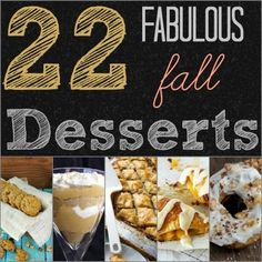 22 Fabulous for Fall Desserts