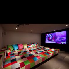 The most kid friendly theater room ever!