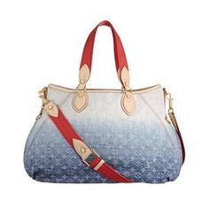 Louis Vuitton Handbags Monogram Denim Sunlight Blue LV M40411