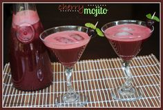 Cherry Mojitos @Shugary Sweets #drinks #cocktails