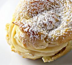 Italian cream puff recipe with custard filling...I made these today and they were amazing! Hubby and sons loved them!