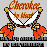 Cherokee by blood.. Native American By Birthright.