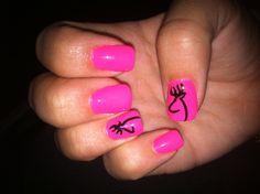 Pink Browning Nails #browning #hunting #love