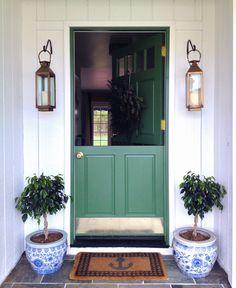 kelly green split front door