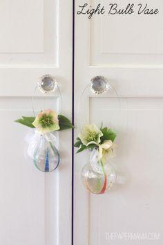 Create vases from light bulbs!