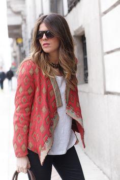 ZARA ethnic jacket
