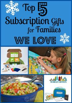 Top 5 Subscription Gifts for Families We LOVE -- and the gifts keep on coming all year long!