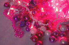 Pink illuminations and baubles