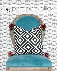 Hi Sugarplum | DIY Pom Pom Pillow