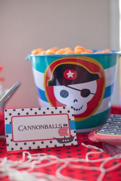 cannon balls as cheese balls ... pirate party