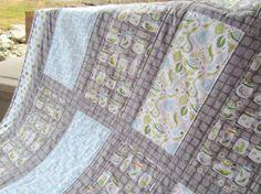 Backyard Baby Boy Crib Quilt by amydashdesigns on Etsy, $140.00