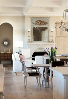 open living space....love mirror & arch
