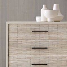 Wood Tiled 3-Drawer Dresser from west elm
