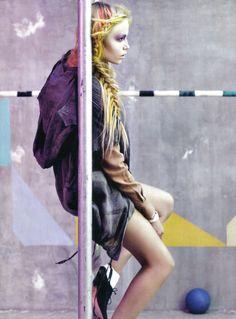 Tom model Natasha Poly for Vogue Italia.