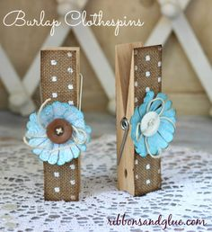 Large Burlap Clothespins using the Home+Made Line!! -- Tatertots and Jello