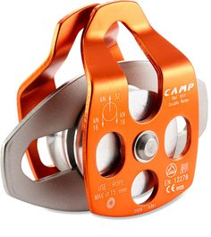 Designed for rigging and rescue situations with lots of hauling involved—C.A.M.P. USA Large Mobile Double Pulley - Ball Bearings.