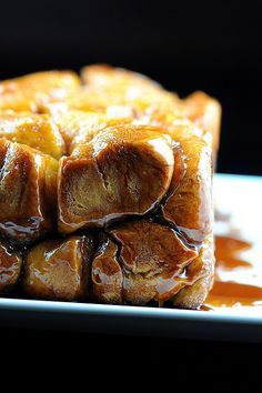 Pumpkin Brioche Whiskey Caramel Monkey Bread - This would be delicious with French vanilla ice cream!
