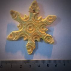 Yellow air dry clay snowflake